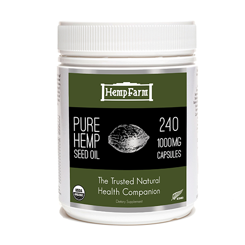 Pure Hemp Seed Oil Capsules 1000mg